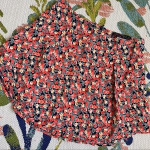 Reformation 90s Grunge Floral Mini Skirt